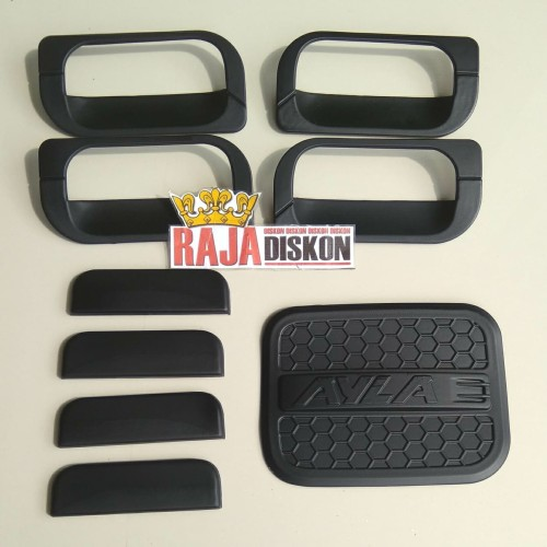 Foto Produk Paket Handle Outer & Tank Cover Daihatsu Ayla Hitam Black Doff dari RAJA DISKON
