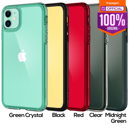 Foto Produk Case iPhone 11 Pro Max / 11 Pro / 11 Spigen Ultra Hybrid Anti Crack - Green Crystal, iPhone 11 dari Spigen Official