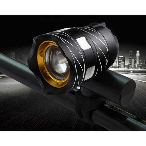 Foto Produk Lampu Depan Sepeda LED Zoomable USB Rechargeable dari angelique macarons