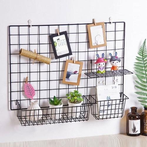 Foto Produk GUNICO -PAKET HIJANG- Wire Grid Wall [FREE BUBBLE WRAP] Hiasan Dinding - Hitam dari LOVE HOME LIVING