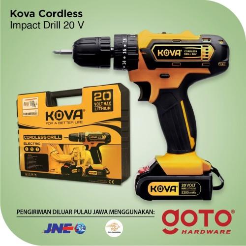 Foto Produk Kova Cordless Impact Drill 20 V Bor Baterai Tembok dari GOTO Hardware