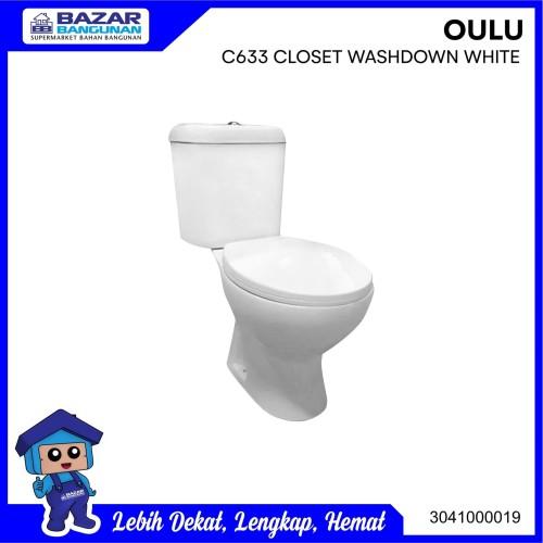 Foto Produk CLOSET / KLOSET / TOILET DUDUK OULU KW1 C 633 / C633 WASH DOWN WHITE dari Bazar Bangunan