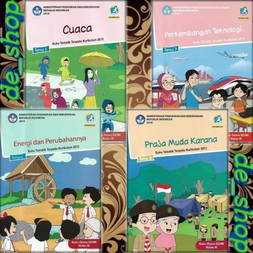 Foto Produk Buku Tematik SD Paket Kelas 3 Tema 5678 dari De__shop