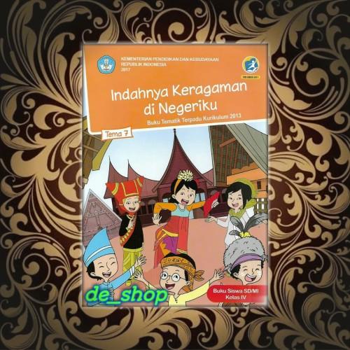 Foto Produk Buku Tematik SD Kelas 4 Tema 7 -Indahnya Keragaman di Negeriku- dari De__shop