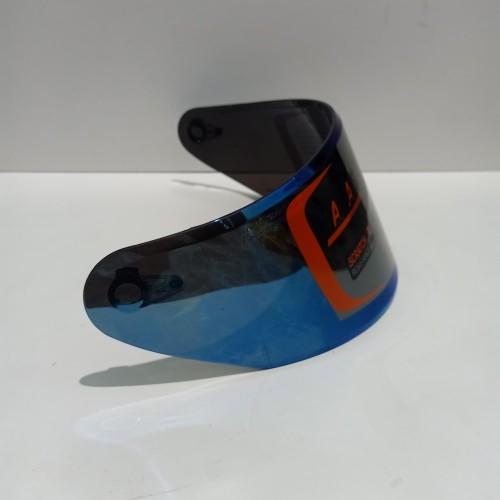 Foto Produk kaca helm Flat Visor iridium blue nhk Rx9. GM racepro - Iridium Blue dari Anugerah Helmet