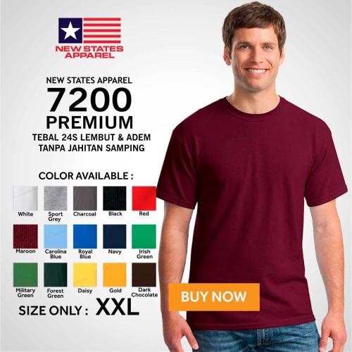 Foto Produk Kaos Polos NSA 7200 Premium Cotton T shirt Original Murah XXL dari TruckerHat