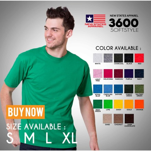 Foto Produk Kaos polos NSA SOFT (New states apparel) mirip gildan softstyle dari TruckerHat