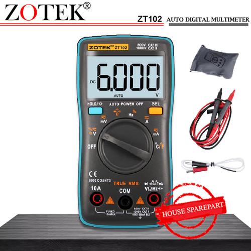 Foto Produk AVOMETER DIGITAL ZOTEK ZT102 / MULTITESTER DIGITAL ZT102 ORIGINAL dari HOUSE SPAREPART