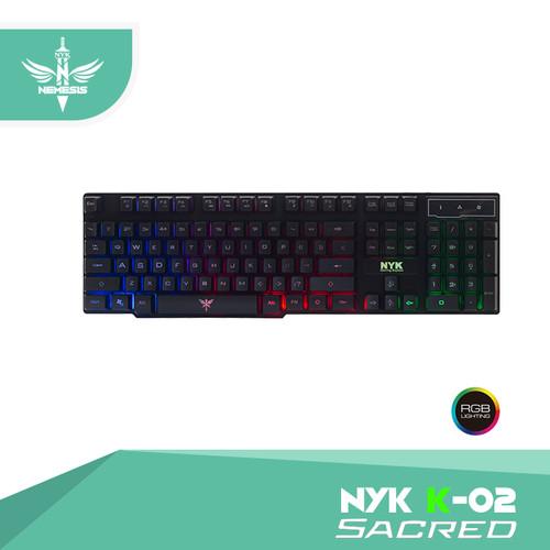 Foto Produk Keyboard Gaming NYK K-02 / K02 / K 02 Black Only dari Hans Computer