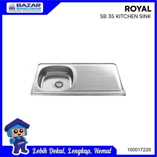 Foto Produk SINK / BAK CUCI PIRING ROYAL SB 35 / SB35 / SB-35 STAINLESS STEEL dari Bazar Bangunan