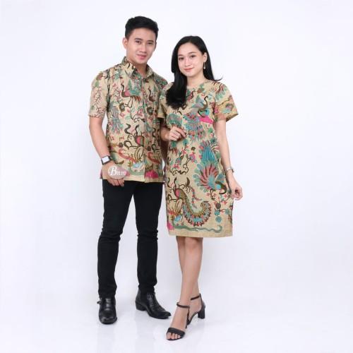 Foto Produk BATIK COUPLE KANTOR SARIMBIT BATIK KEMEJA BLUS MURAH SERAGAMAN C046 dari batik gemilang