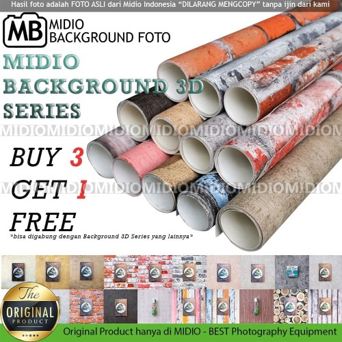 Foto Produk Background Foto Studio/Alas Foto 3D Midio Ukuran 53x100cm dari Midio
