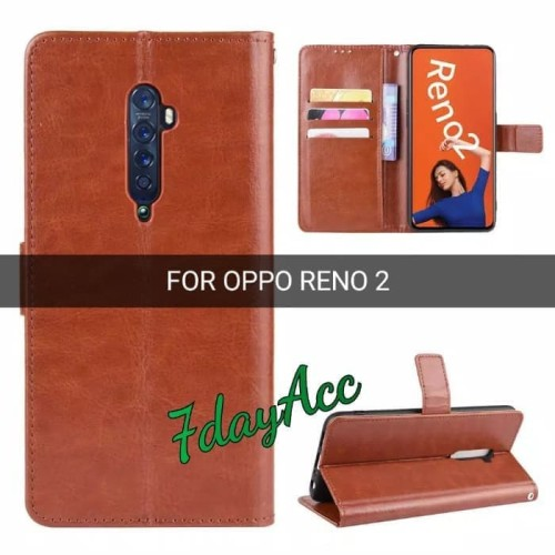 Foto Produk dompet kulit Oppo Reno 2 flip case Reno 2 dari yalen shop