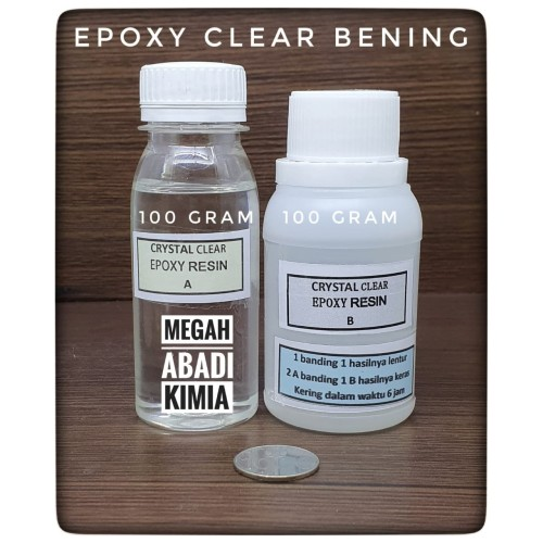 Foto Produk Epoxy Resin Bening Clear 100 Gram + Hardener 100 Gram dari Megah Abadi Chem
