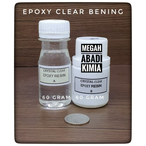 Foto Produk Epoxy Resin Bening Clear 60 Gram + Hardener 60 Gram dari Megah Abadi Chem