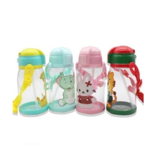 Foto Produk Botol Minum Toddler Sedotan + Tali Gantung Animal Anak Cute 600ml B063 dari TOPSOUL 1
