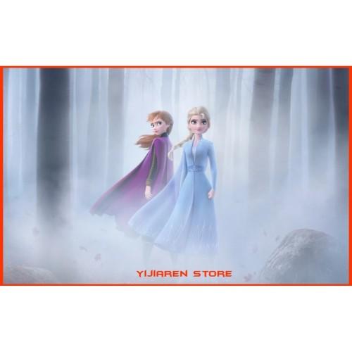 Foto Produk 3D Wallpaper Dinding | Wall Sticker| Anak Frozen Elsa & Anna dari Yijiaren Store