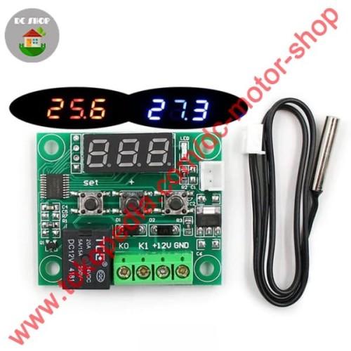Foto Produk W1209 PCB Thermostat Digital Temperature Controller Control Suhu dari DC Motor Shop