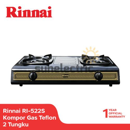 Foto Produk Rinnai Kompor Gas Teflon 2 Tungku RI-522 S - Hitam dari SUN ELECTRIC
