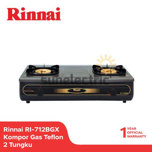 Foto Produk Rinnai Kompor Gas Teflon 2 Tungku RI-712 BGX - Hitam dari SUN ELECTRIC
