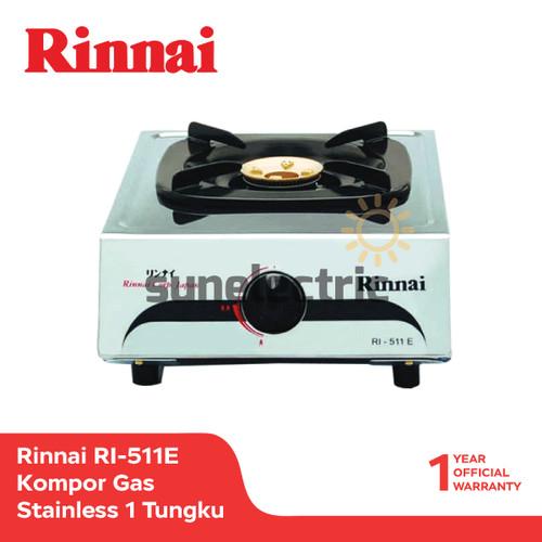 Foto Produk Rinnai RI-511E Kompor Gas 1 Tungku Stainless - Silver dari SUN ELECTRIC