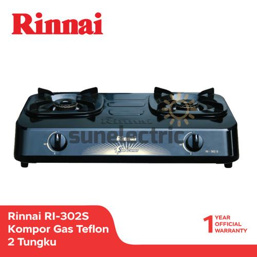 Foto Produk Rinnai RI-302 S Kompor Gas Teflon 2 Tungku - Hitam dari SUN ELECTRIC