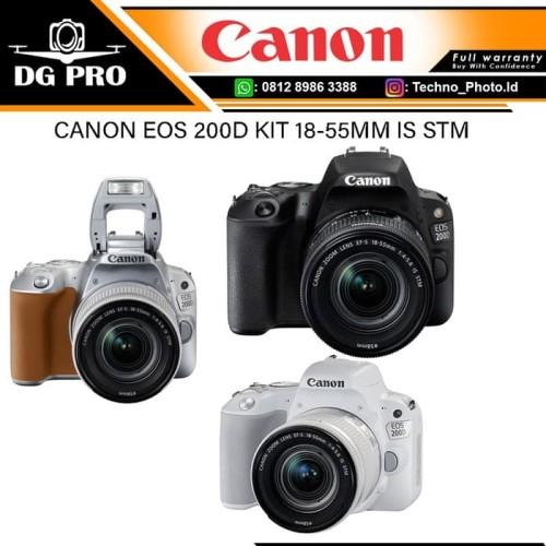 Foto Produk Canon EOS 200D Kit 18-55mm IS Stm WIFI - Camera DSLR 24.2 Megapiksel dari DG PRO