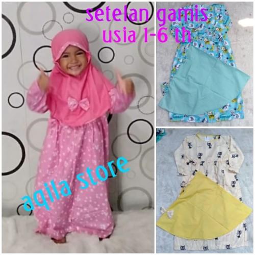 Foto Produk gamis anak muslim anak setelan anak lucu - Size M, Pilih Motif dari widy aqila store