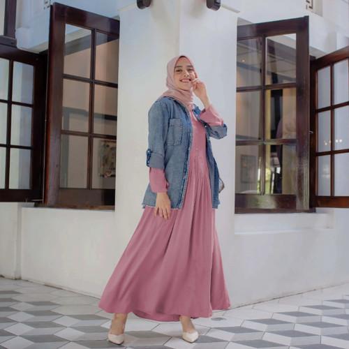 Foto Produk Inayah basic dress Rose by Vanilla Hijab - Rose, M dari FWS sale