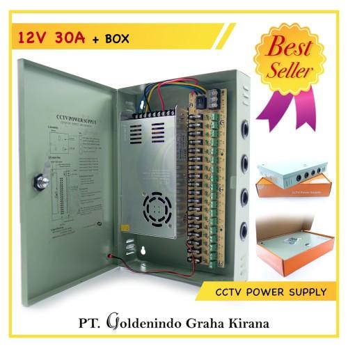 Foto Produk Power Supply CCTV 12 V 30A + Box dari Goldenindo CCTV