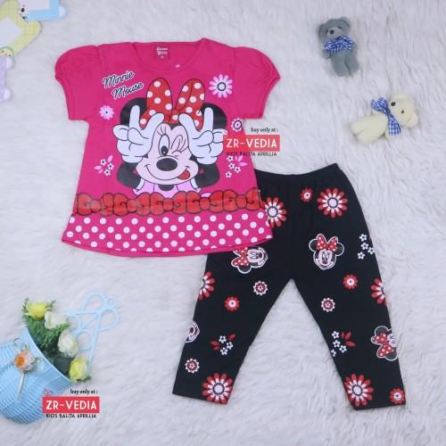 Foto Produk Setelan Mickey Mouse uk 2-3 Tahun / Baju Anak Karakter Perempuan dari ZR-Vedia