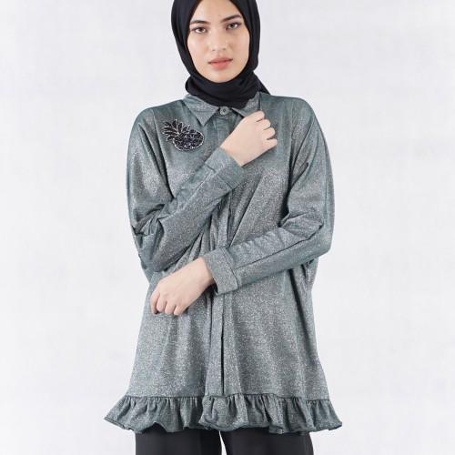 Foto Produk Silver All The Glitters Tunic - , Busana Muslim dari #MARKAMARIE