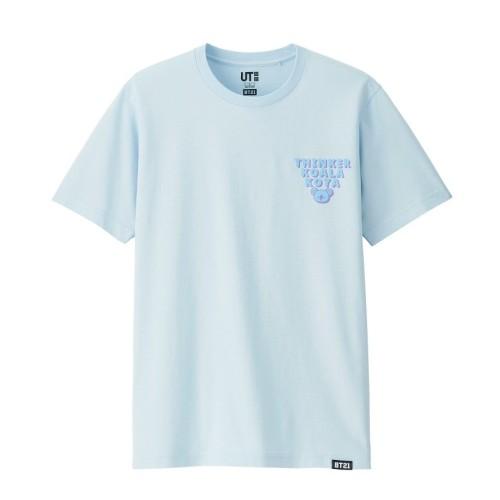 Foto Produk Kaos Wanita Tshirt Tee THINKER KOALA KOYA BT21 Printing Bahan Spandex dari Lee Jow