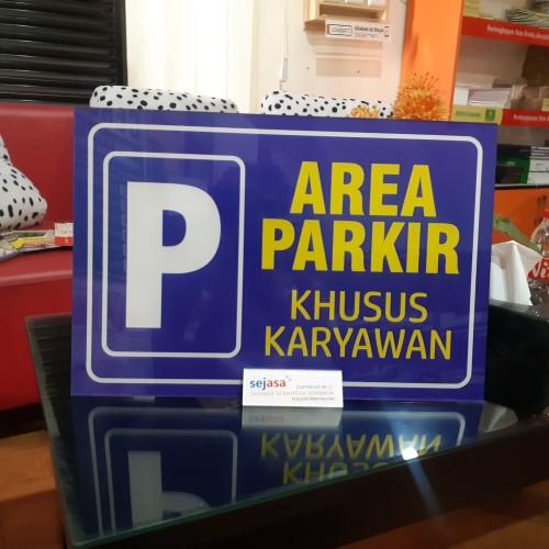 Foto Produk Akrilik Parkir Khusus Karyawan dari Syafana