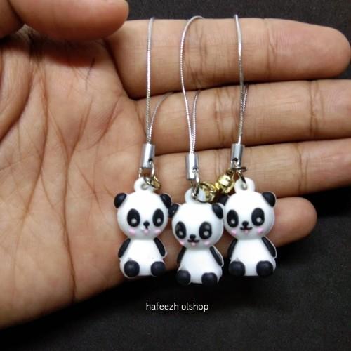 Foto Produk Gantungan Kunci Tali Strap Hp Handphone Cute Panda dari hafeezh olshop