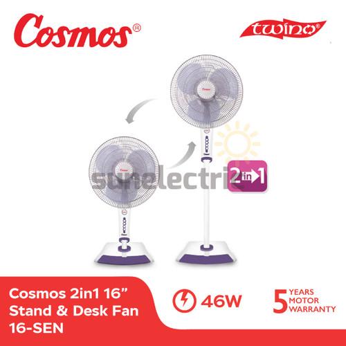 Foto Produk Cosmos 16-SEN Kipas Angin 2in1 TWINO Stand & Desk Fan 16 Inch / 40 cm dari SUN ELECTRIC