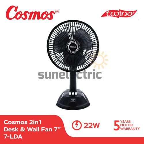Foto Produk Cosmos 7-LDA Kipas Angin 2in1 TWINO Desk & Wall Fan 7 Inch / 18 cm dari SUN ELECTRIC