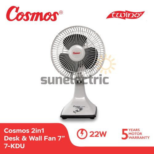 Foto Produk Cosmos 7-KDU Kipas Angin 2in1 TWINO Desk & Wall Fan 7 Inch / 18 cm dari SUN ELECTRIC