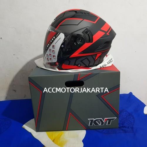 Foto Produk KYT NFJ Motion Red Black Matt, Limited Edition dari AccMotorJakarta