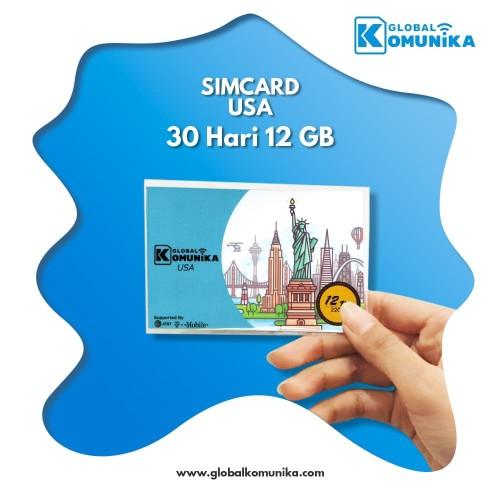 Foto Produk Sim Card Amerika 30 Hari 12 GB   USA Simcard 30 Days 12 GB dari Global Komunika JKT