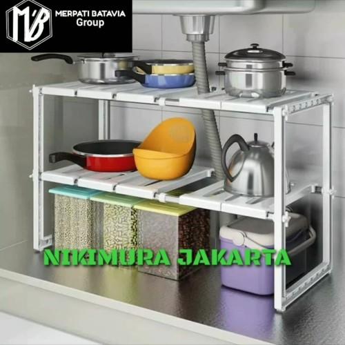 Foto Produk Kitchen Rack Portable Stainless Rak Dapur untuk Panci 2 Susun dari NIKIMURA JAKARTA