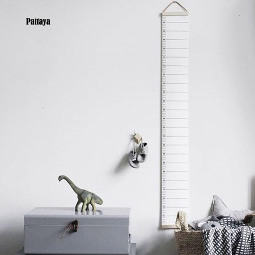 Foto Produk Stiker Dinding Pengukur Tinggi Badan Anak Desain Nordic Bahan Kanvas - Putih dari MOL_ID