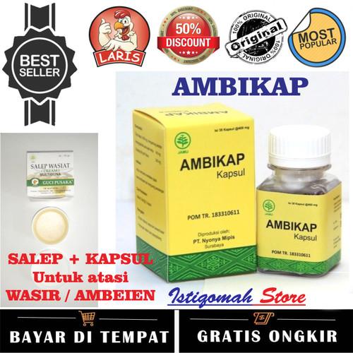 Foto Produk Salep dan Kapsul Obat Wasir Ambeien Hemoroid - AMBIKAP & SALEP WASIAT dari Istiqomah-Store