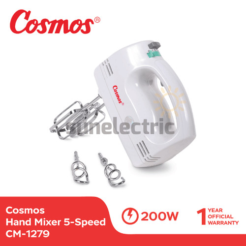 Foto Produk Cosmos CM-1279 Hand Mixer Turbo 5-Speed dari SUN ELECTRIC