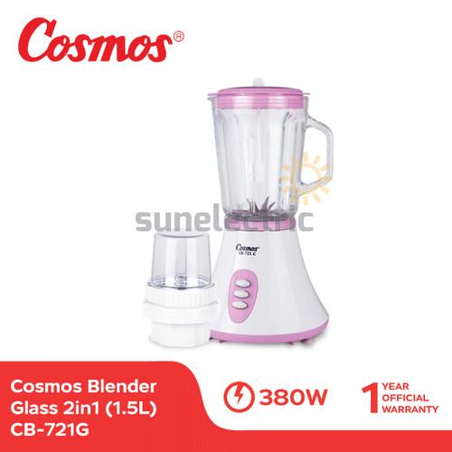 Foto Produk Cosmos CB-721 G Blender Glass / Kaca + Dry Mill 2in1 1.5 Liter dari SUN ELECTRIC