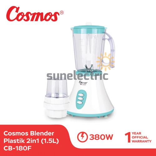 Foto Produk Cosmos CB-180 F Blender Plastik + Dry Mill 2in1 1.25 Liter dari SUN ELECTRIC