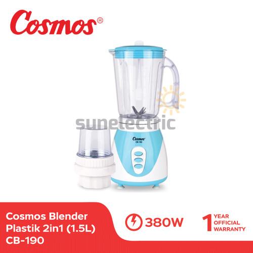 Foto Produk Cosmos CB-190 Blender Plastik + Dry Mill 2in1 1.25 Liter dari SUN ELECTRIC