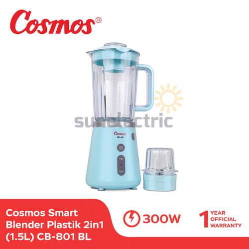Foto Produk Cosmos CB-801 BL Blender Plastik Blenz + Dry Mill 2in1 1.5Liter - Biru dari SUN ELECTRIC