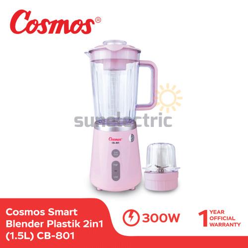 Foto Produk Cosmos CB-801 Blender Plastik Blenz + Dry Mill 2in1 1.5 Liter - Pink dari SUN ELECTRIC
