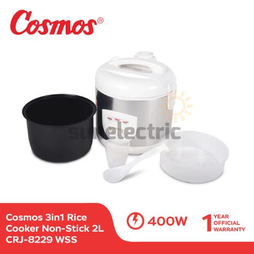 Foto Produk Cosmos CRJ-8229 WSS Rice Cooker 3in1 Magic Com (2 Liter) - Putih dari SUN ELECTRIC